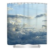 Clouds Of Blue Shower Curtain