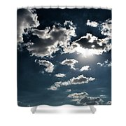 Clouds On A Sunny Day Shower Curtain
