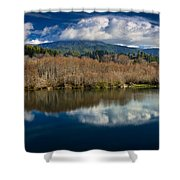 Clouds On The Klamath River Shower Curtain