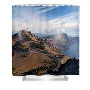 Clouds On The Ridge Shower Curtain