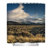 Clouds Over East Humboldts Shower Curtain