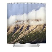 Clouds Over Porphyry Mountain Shower Curtain