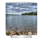 Clouds Over The American River Shower Curtain
