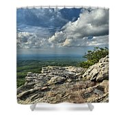 Clouds Over The Cliff Shower Curtain