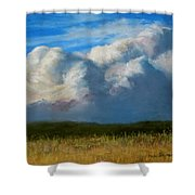 Clouds Over The Meadow Shower Curtain