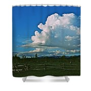 Clouds Over The North Forty Shower Curtain