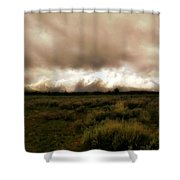 Clouds Over The Tetons Shower Curtain