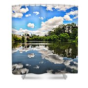 Clouds Reflection On Water Shower Curtain