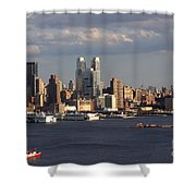 Clouds Rolling In On New York City Shower Curtain