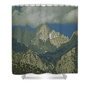 Clouds Shadow Rocky Mountain Peaks Shower Curtain