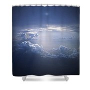 Clouds Sunlight Breaking Through Clouds Shower Curtain