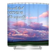 Clouds With Verse I Shower Curtain
