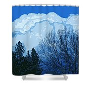 Cloudy Blue Dream Shower Curtain