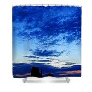Cloudy Blue Monument Shower Curtain