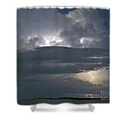 Cloudy Horizon Shower Curtain