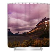 Cloudy Morning At Glacier Shower Curtain