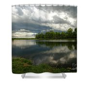 Cloudy With A Chance Of Paint 1 Shower Curtain