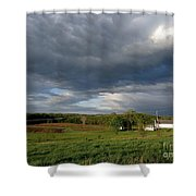 cloudy with a Chance of Paint 2 Shower Curtain