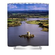 Cloughoughter Castle, Co Cavan, Ireland Shower Curtain