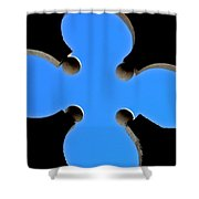 Cloverleaf Window Shower Curtain