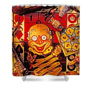 Clown Toy And Old Playthings Shower Curtain