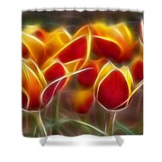 Cluisiana Tulips Fractal Shower Curtain