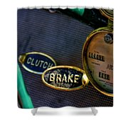 Clutch And Brake Shower Curtain
