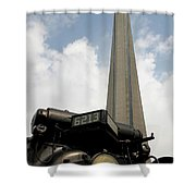 Cn Tower And Train Shower Curtain