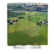 Co Fermanagh, Ireland Aerial View Of Shower Curtain