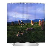 Co Kerry, Ireland, Stone Circle Shower Curtain