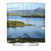 Co Mayo, Ireland Evening View Across Shower Curtain