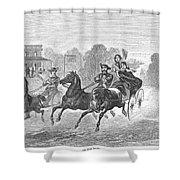 Coaching, 1860 Shower Curtain