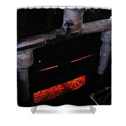 Coal Burner Face Shower Curtain