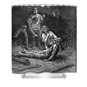Coal Mine Disaster, 1884 Shower Curtain
