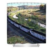 Coal Train - Johnstown  Shower Curtain