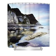 Coast Between Carnlough & Waterfoot, Co Shower Curtain