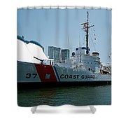 Coast Guard History  Shower Curtain