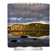 Coastal Cliffs In Evening Light Shower Curtain