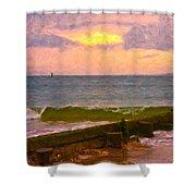 Coastal Climate Shower Curtain