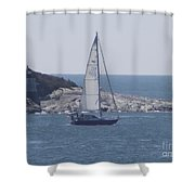 Coastal Newport Ri  Shower Curtain