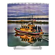 Coastguard Hdr Shower Curtain