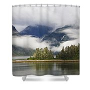 Coastline, Endicott Arm, Inside Shower Curtain