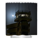 Cob Speicher Control Tower Under A Full Shower Curtain by Terry Moore