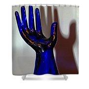 Cobalt Hand Shower Curtain