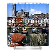 Cobh, Co Cork, Ireland, Cobh Cathedral Shower Curtain