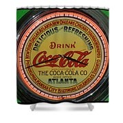 Coca Cola Clock Shower Curtain