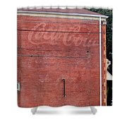 Coca Cola Faded Shower Curtain