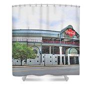 Coca Cola Field  Shower Curtain