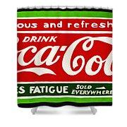 Coca-cola  Relieves Fatigue Shower Curtain