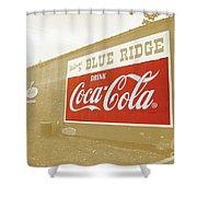 Coca-cola Sepia Shower Curtain